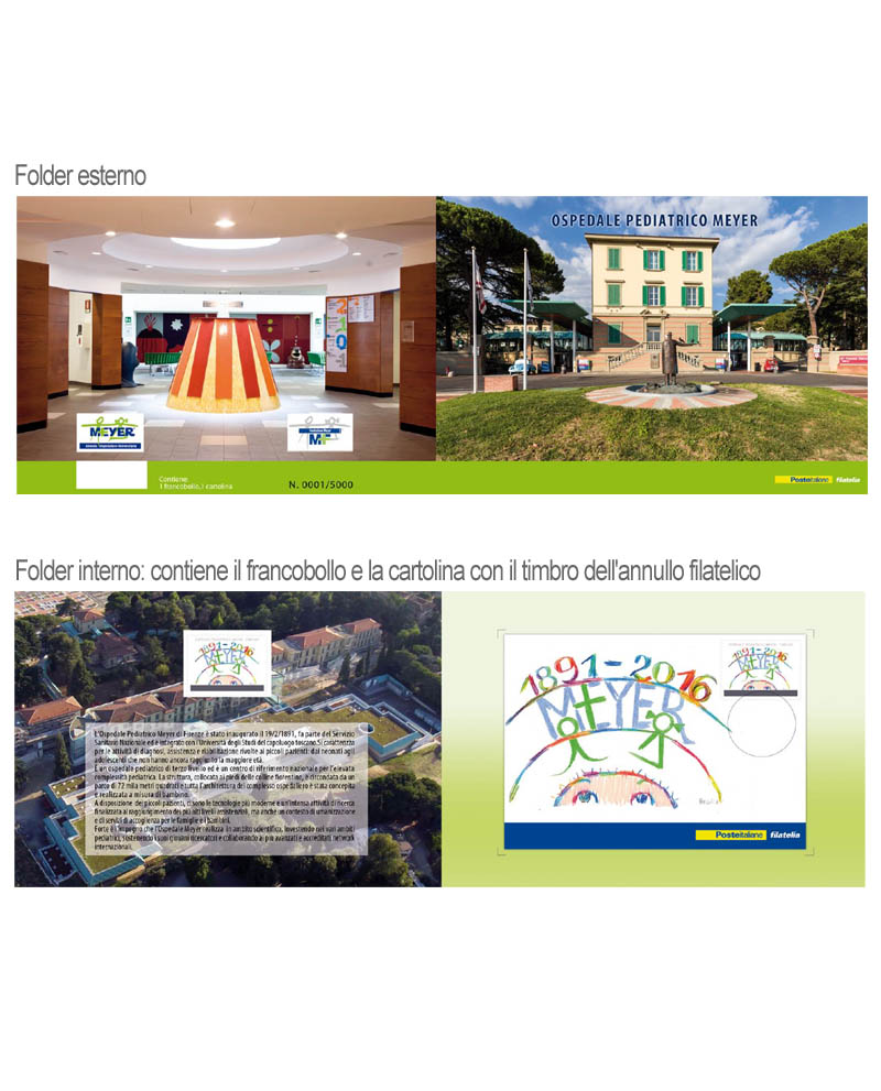 Folder con francobollo celebrativo 125 anni