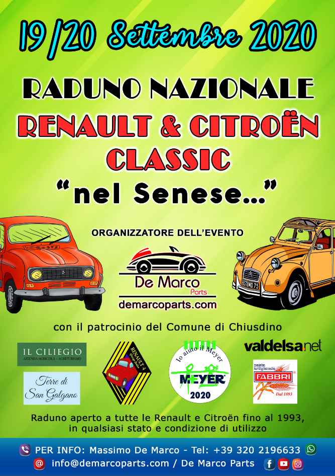 "Raduno Nazionale RENAULT & CITROEN CLASSIC ""nel Senese"""