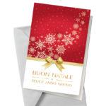 Biglietto rosso con fiocchi di neve (BA13)-10