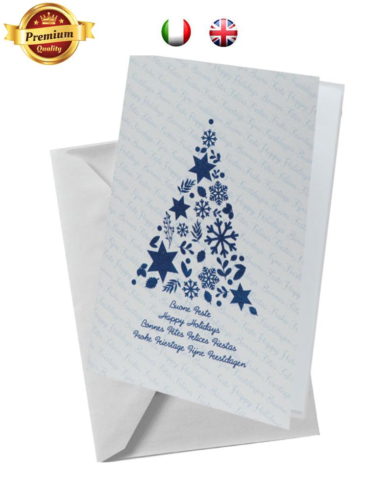 Biglietto pregiato con albero blu (BP01)