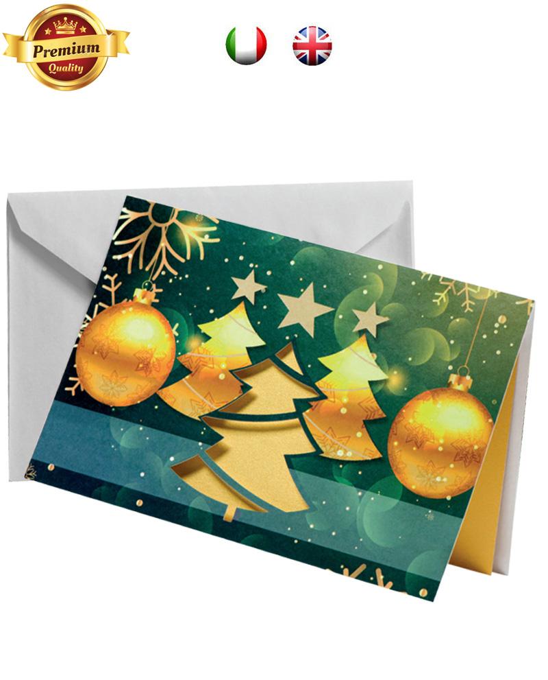 Biglietto pregiato con albero dorato (BP03)