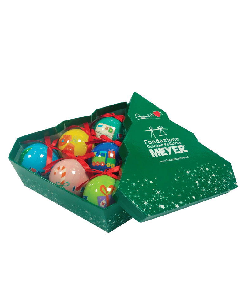 Scatola con 6 palline decorate (SC01)