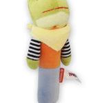 Mr Frog. Sonaglino peluche ranocchietta-10