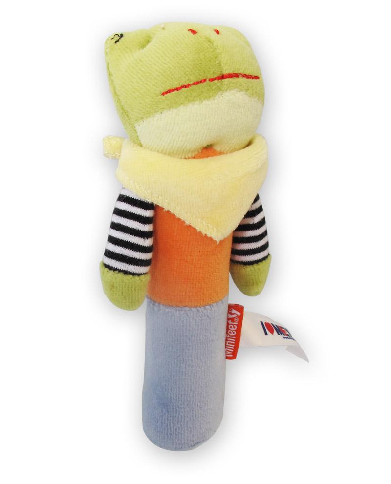 Mr Frog. Sonaglino peluche ranocchietta